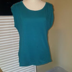 Teal/blue-green North Face Tee